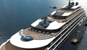 sky view of the yacht collection